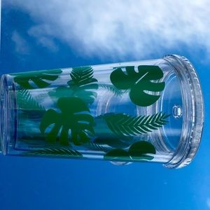 Tropical leaves tumbler 🌴